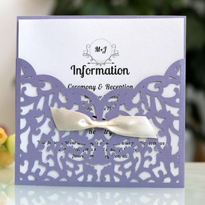 Lightweight Wedding Delicate Event Rose Flower Envelope Hollow Out Party Invitation Card Set Paper Portable Lace Pocket Greeting