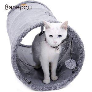 Cat игрушка Benepaw качество Складной Cat Tunnel закручивание Прочная замша Kitten игрушка Играть Indoor Hideaway с мячом Peek Hole легко носить с собой