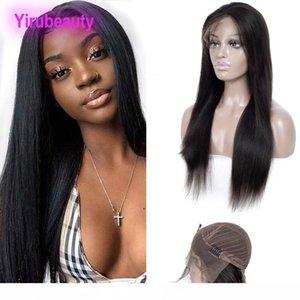 B brésilienne Virgin Hair 13x4 Lace Front Wigs Silky droite Remy Lace Wig 10 -32inch gratuite Partie 13 * 4 Perruques Couleur des cheveux naturels