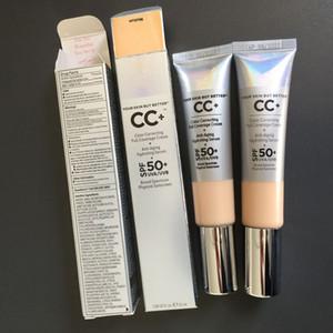 Maquillage de visage crème CC votre peau mais mieux CC + Crème Correction des couleurs Illumination pleine crème Couverture Concealer SPF 50+ Léger Moyen 32ml