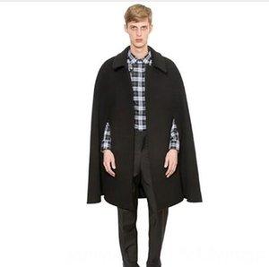S5XL Novo 2019 homens roupas de inverno moda outono-coreano Cabo Manto blusão comprido solto T Lã Shawl plus size vestuário Os homens do Coats M