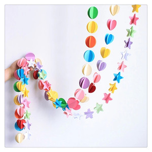 Birthday Decor Colorful Paper Garland Banner for Home Party Decoration Nursery Christening Brand New And High Quality