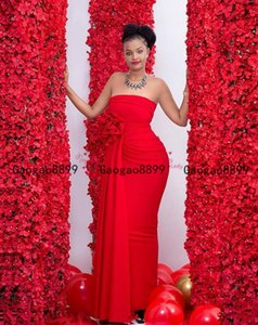 2020 длинные красные платья выпускного вечера пятно русалка сексуальная милая длинное вечернее платье с 3d ручной работы цветок на заказ vestidos de novia