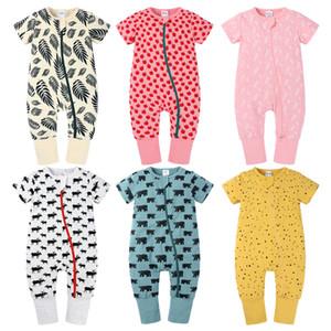 W450 Sommer Baby Baumwolle Strampler Kurzarm Strampler Jumpsuit Kleinkind Klettern Kleidung Kinder Kinder Kleidung 16 Farben