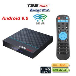 قطعة واحدة !! T95 Max+ Amlogic S905X3 أندرويد 9.0 OTT TV Box 4GB 32GB Dual 2.4 G+5.0 G WIFI X96 Mini TX3 Mini