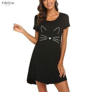 Women Dress 2020 Cat Print Sleeveless Casual Party Swing Dress Drop Shipping Black Slim Soft Touch Summer 2020 Vestido