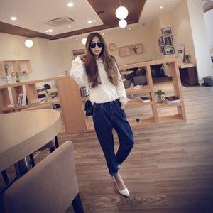 Весна BF Ветер Ноги Харлан брюки джинсы Высокая талия Женщины FL394 Femme Pant Rk