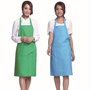 Fashion New Plain Apron with Front Pocket for Chefs Butchers Kitchen Cooking Craft Baking Home Cleaning Tool Accessories Christmas