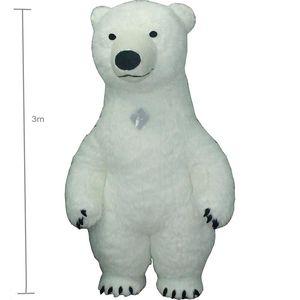 3 м белый костюм талисмана bea для взрослых надувной костюм белого медведя реклама для фантазии Homem настроить высокие короткие волосы