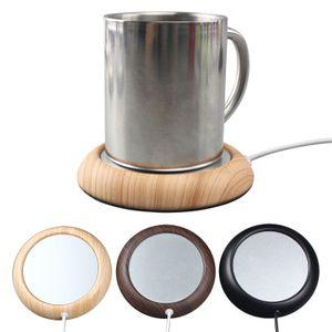 Usb Chauffage Coaster ronde Creative café chaud Coaster Étrange nouvelle Tasse Mat Usagé Home Bar EEA1074