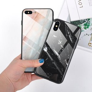 Glossy Marble texture Tempered Glass Phone Case For iPhone X XS XR XS Max 8 7 6 6S Plus Cool Full Body Protection Back Cover