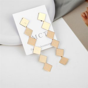 180 lungo in metallo elegante color oro orecchini quadrati moda donna Etrendy lusso economici accessori Brincos Femme nuovo orecchino