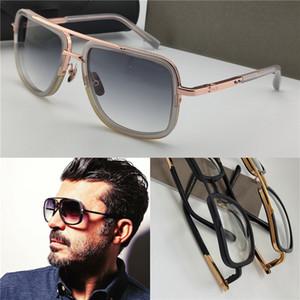 Новые солнцезащитные очки мужской дизайн металл винтаж МОДА СТИЛЬ 2030 одна квадратная рамка наружная защита УФ 400 объектив очки с футляром