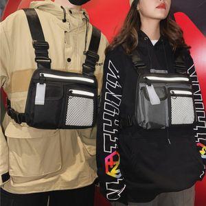 Rig Bag Reflective Tactical Hip-hop Men Chest Chest Bag Men Functional Vest Pack Waterproof Waist Bags Shoulder Bags For Outdoor