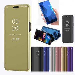 Para Samsung Galaxy S10 5G Fundas de lujo Smart View Mirror Cover para Samsung Galaxy S10 Plus Funda de cuero con soporte S10e