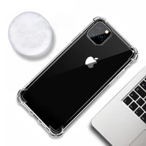Clear Air وسادة زاوية Clear Utra Silm Soft Tpu Silicone Case for iPhone SE 2020 11 Pro Max XS XR X 8 7 6S Plus 5s Anti-konck Rubber Cover