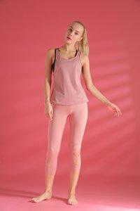 Chuanshan Store Women Stretch Yoga Leggings Linen Yoga Pant Fitness Running Gym Sports Pockets Active Pants