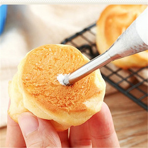 Icing Piping Nozzles Tips Dessert Cream Butter Cupcake Doughnut Filler Tool Puff Flower Mouth Pointed Flower Mouth Cake Tools CT0447