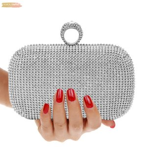 Evening Clutch Bags Purse Diamond Studded Hasp Evening Bag With Shoulder Bag Womens Handbags Wallets Evening Bag For Wedding
