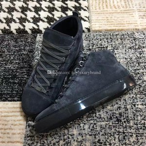 Navire rapide sur Chaussures Casual Arena Chaussures causales hommes Sneaker Suede High Cut Fashion Arena Designer Shoes Drop Shipping Taille 39-46