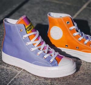 Chinatown chuck 1970 s 2019 alta top vulcanized board sapatos de lona casuais uv roxo orange branco de alta qualidade das mulheres dos homens da sapatilha