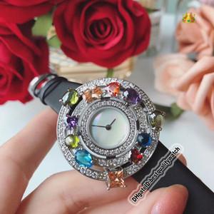 Дешевые Для высокого качества ювелирных изделий Astrale 102011 AEP36D2CWL белый циферблат серебро Алмазный диск Швейцарский Кварц Женская мода Luxry Lady часы