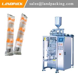 Automático multifunción líquido caramelo multi carril palillo de la máquina de embalaje jalea de tipo vertical, llenado y sellado de la máquina Precio
