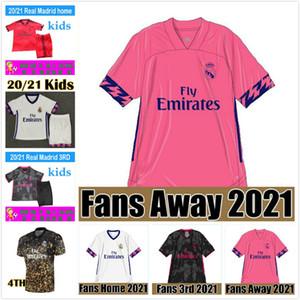 REAL MADRID maglie 20 Jersey 21 di calcio PERICOLO DI SERGIO RAMOS BENZEMA Vinicius uniformi della camicia camiseta calcio maschile + kids il corredo degli insiemi 2020 2021