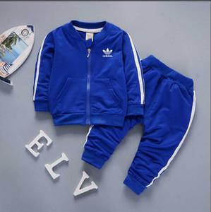 2019 marka bebek erkek ve kız eşofman çocuk eşofman çocuklar ceket pantolon 2 adet setleri çocuklar giyim sıcak satmak yeni moda ilkbahar yaz