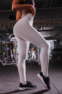 Tummy Control Текстурированные леггинсы женские узкие эластичные брюки для йоги Активные тренировочные леггинсы женские колготки