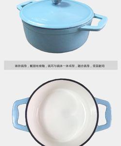 Cast Iron Pan Pan Eisen Saucepan Eindickung brodelte Emaille Gusseisen Titan Pot Cooker Gas