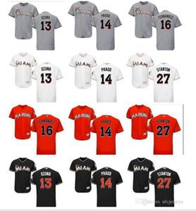 Benutzerdefinierte Männer Frauen Kinder Miami Marlins Jersey 14 Martin Prado 13 Marcell Ozuna 16 Jose Fernandez 27 Giancarlo Stanton Baseball Jersey Liebe