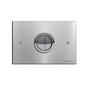 panel neumático acero inoxidable Control de suspensión de pared paneles de pared de acero de descarga Cisterna cromo doble pulsador inodoro wc