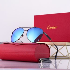 In 2020, the latest fashion Sunglasses for men and women packaging boxes aviator Sunglasses polaroid lens free shipping box