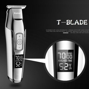 Kemei Usb Hair Clippers Men Professional Led Haircut Machine Barber Lithium Upgrade Luxury Version Trimmer maquina de cortar SPars