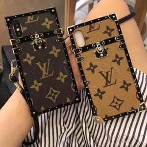 Retro Trendy Stampa Lettera cassa del telefono per iPhone X XS MAX XR 7 7plus 8 8plus 6 6s plus pelle TPU PU copertura posteriore della Fashion Show Designer