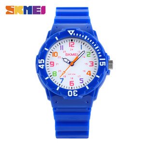 SKMEI Moda Casual Niños Relojes de regalo 50M Relojes de pulsera de cuarzo impermeables Reloj para niños Niños Horas Niñas Estudiantes Reloj 1043