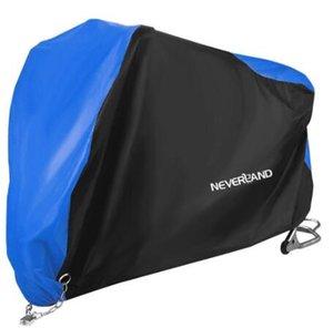 190T Siyah Blue Design Su geçirmez Motosiklet Motorlar Toz Yağmur Kar UV Koruyucu Kapak Kapalı Açık M XL XXL XXXL D45 Kapaklar