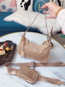 5 colores Diseñador Nylon Mujer Bolsa de hombro Paquete de Cofre Lady Cadenas de Lady Purse Messenger Bags Diseñador Bolsos Lienzo al Por Mayor