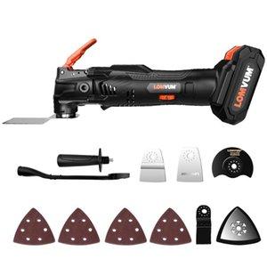 LOMVUM Multi-Function Saw Renovator strumento 18V tagliatore elettrico Power Tool elettrico oscillante fai da te a casa