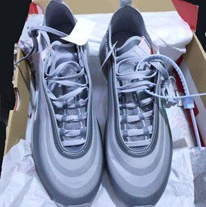 2019 Menta 97 S OG Koşu Ayakkabıları Serena Williams Kadın Siyah Koni Gri Sınırlı Yayın Üçlü Siyah Beyaz Nefes Sneaker Boyutu ABD 5.5-11