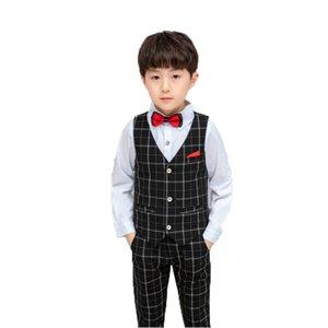 2020 Дети Летняя Формальное Vest + шорты 2Pcs комплект одежды цветок мальчиков Свадебный костюм младенца Дети Birthday Party смокинг платье Костюм