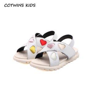 CCTWINS 2020 Chaussures enfants été enfant en bas âge Marque Souliers doux Bébés filles Princesse Sandales Mode enfants Flat Black PS867