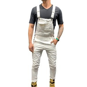 HEFLASHOR Men Adjustable Shoulder Strap Slim Denim Overalls Bib Pants Jumpsuit Fashion Overalls joggers Men Suspender Pants 2020