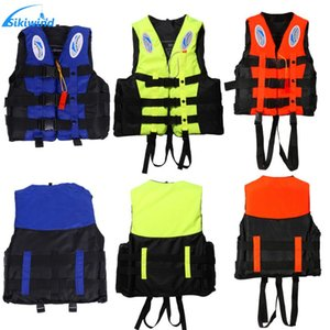 ater Safety Products Life Vest Universal Outdoor Swimming Boating Ski Drifting Vest Survival Suit Polyester Life Jacket for Adult Kids wi...