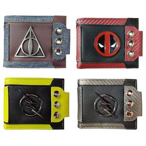 2019 nuovo portafoglio retrò patch in metallo Portafoglio Harry Potter Deadpool Portafoglio Dragon Ball Portafoglio Portafogli firmati