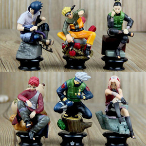 6 PCS PVC Anime Naruto Action Figures Dolls Set New Uzumaki Naruto Uchiha Sasuke Hatake Kakashi Model Collection Gift Toys