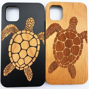 Casse di legno della copertura del telefono Black Cherry incisione del cellulare per Iphone 11 pro max XS XR SE 7 8 Plus Anti-knock più venduti