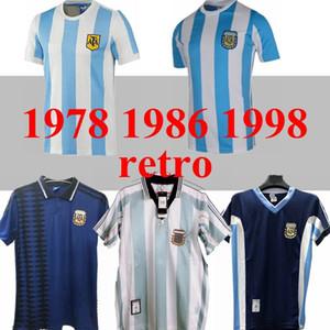 1986 Soccer Jersey Retro Argentina Maradona 1998 Vintage Classique 1978 Retro Argentina Maradona Chemises Maillot de Football Camisetas de