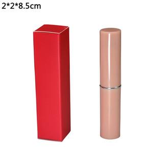 50pcs/lot 2*2*8.5 см красный складной картонная коробка помада пакет крафт-бумага коробка ремесло бумажный картон пакет коробка для рождественские украшения